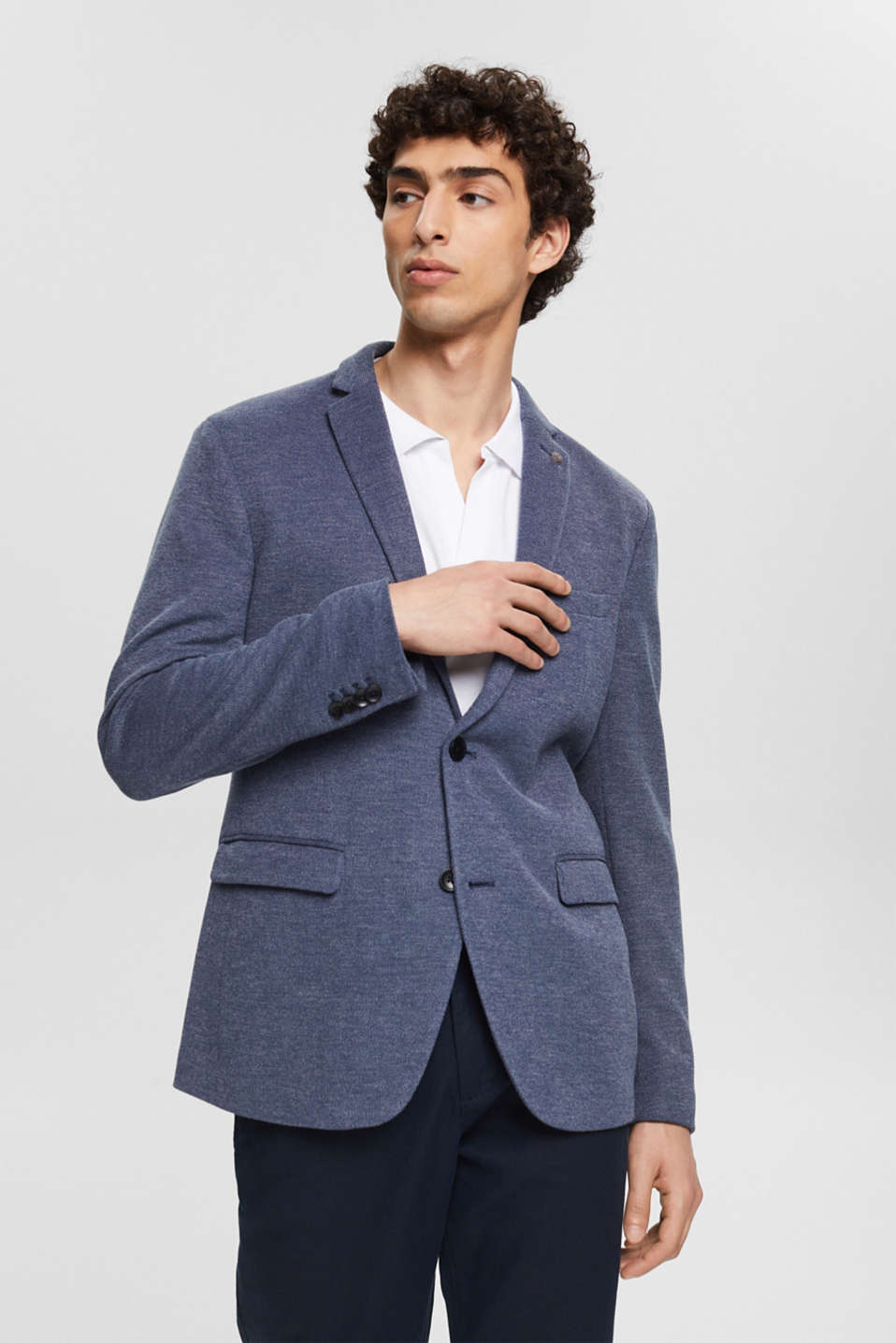Esprit - Sports jacket in a piqué finish