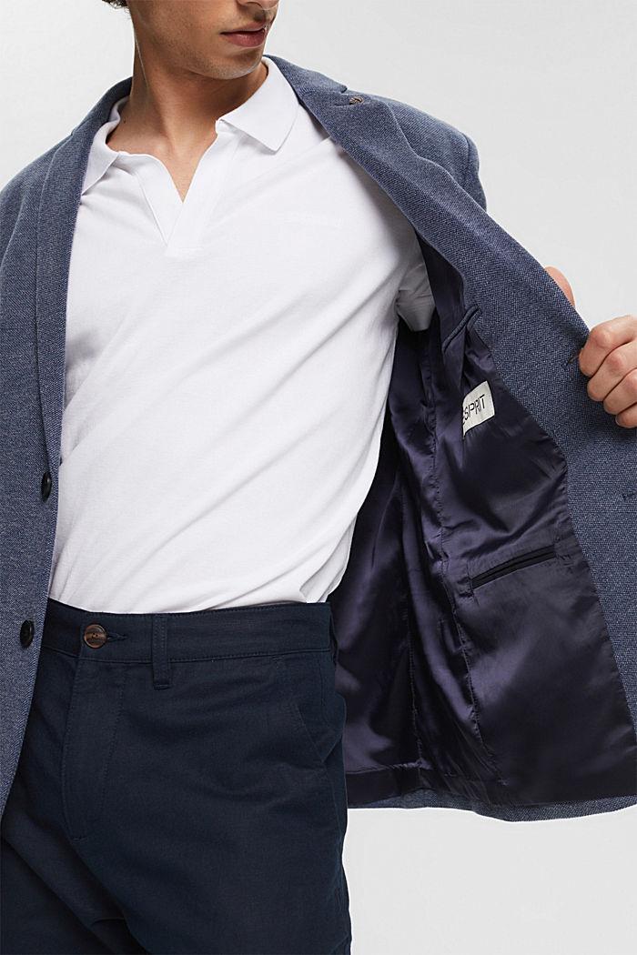 Sakko mit Piqué-Optik, GREY BLUE, detail image number 6