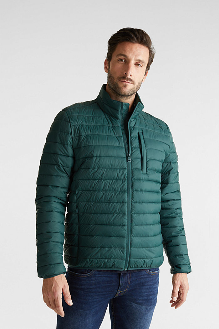 Quilted jacket with 3M™ Thinsulate™ filling, DARK GREEN, detail image number 0