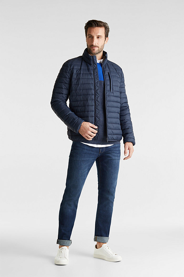 Quilted jacket with 3M™ Thinsulate™ filling, DARK BLUE, detail image number 1