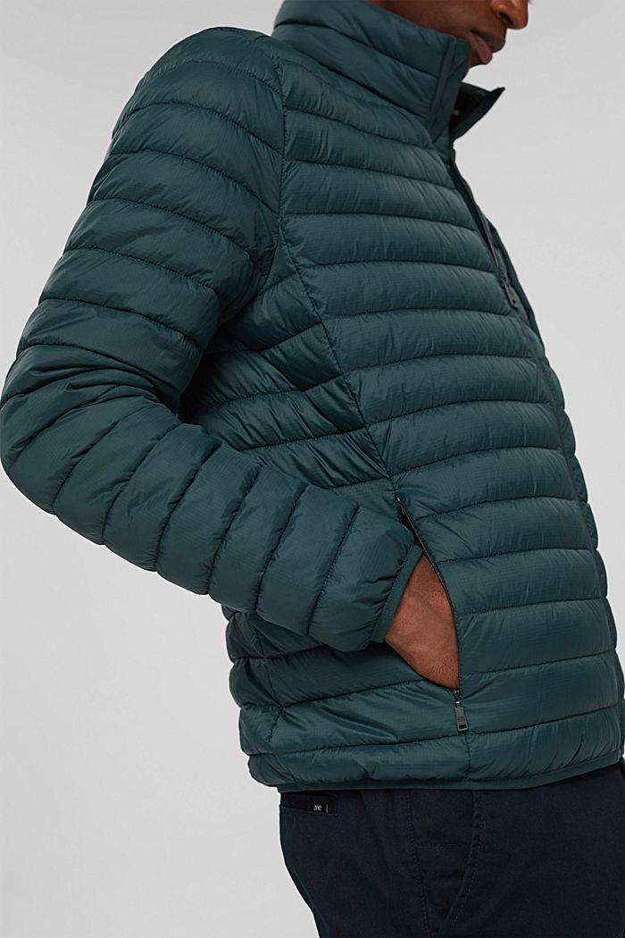 Gerecycled: gewatteerde jas met 3M™ Thinsulate™, TEAL BLUE, detail image number 2