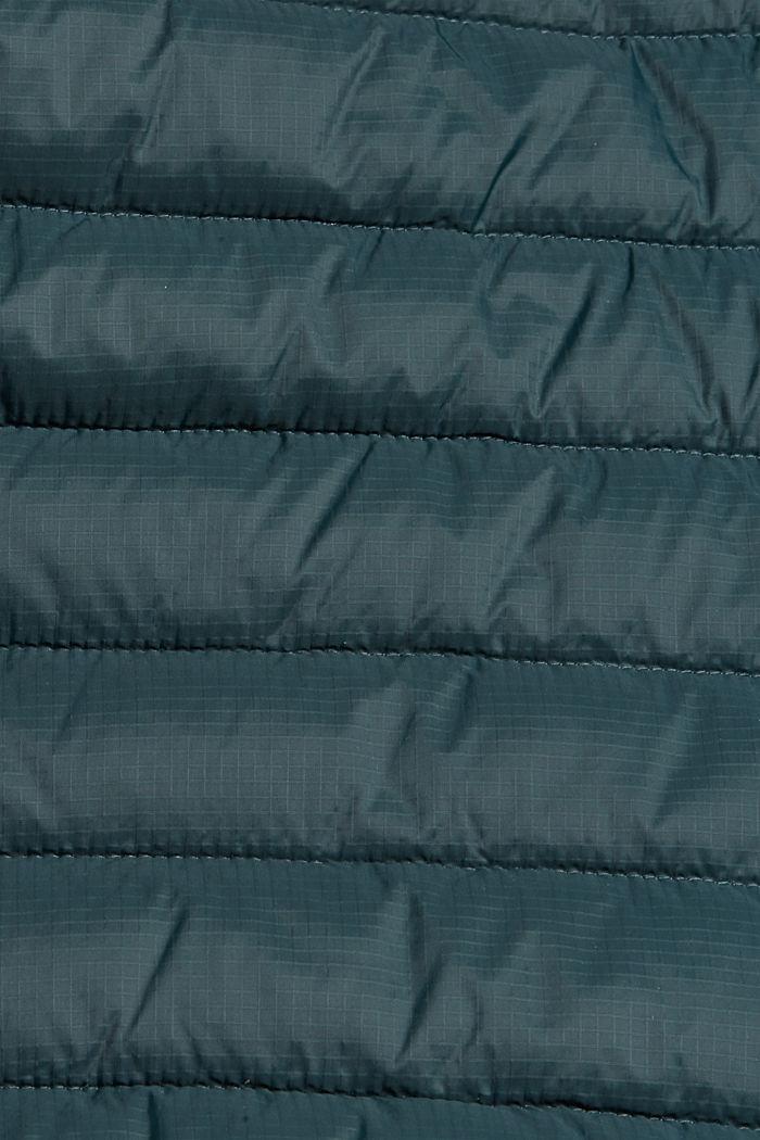 Gerecycled: gewatteerde jas met 3M™ Thinsulate™, TEAL BLUE, detail image number 4
