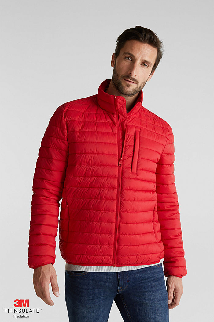 Quilted jacket with 3M™ Thinsulate™ filling, RED, detail image number 0