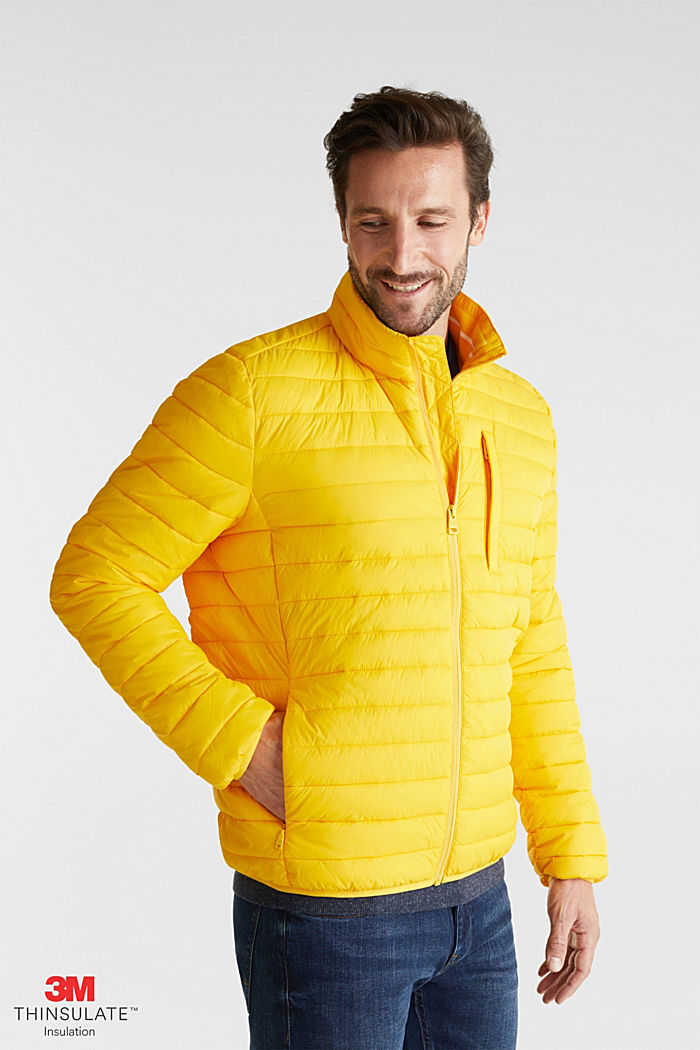 Quilted jacket with 3M™ Thinsulate™ filling, YELLOW, detail image number 0