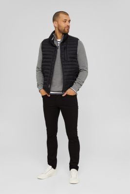 Quilted bodywarmer made of 3M™ Thinsulate™, BLACK, detail