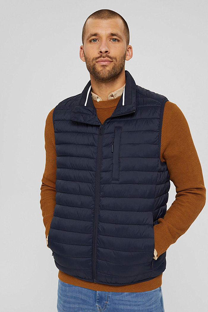 Quilted bodywarmer made of 3M™ Thinsulate™, DARK BLUE, detail image number 0