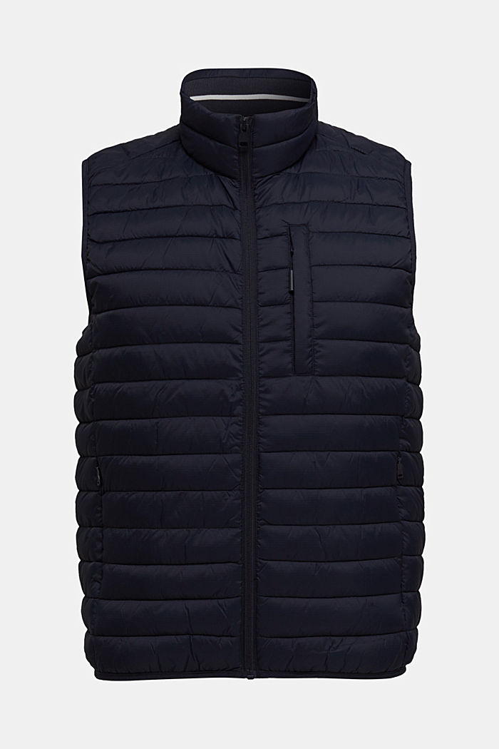 Quilted bodywarmer made of 3M™ Thinsulate™, DARK BLUE, overview