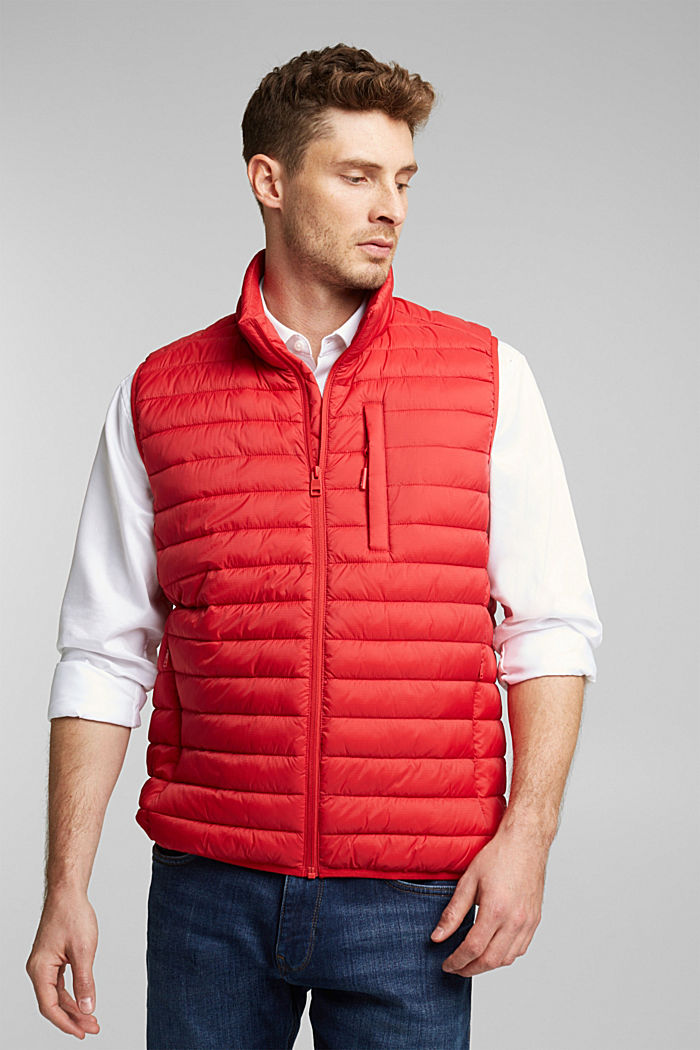 Quilted bodywarmer made of 3M™ Thinsulate™, RED, detail image number 0