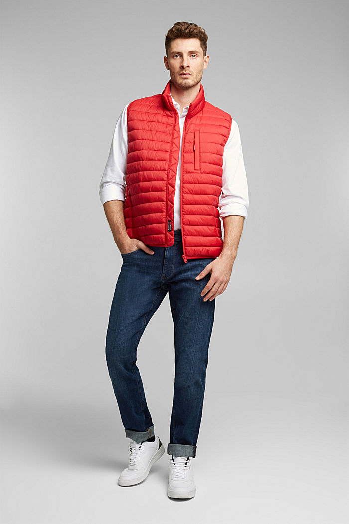 Quilted bodywarmer made of 3M™ Thinsulate™, RED, detail image number 1