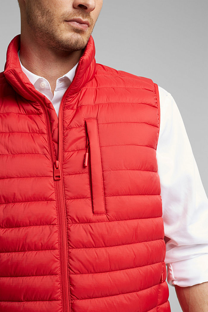 Quilted bodywarmer made of 3M™ Thinsulate™, RED, detail image number 2