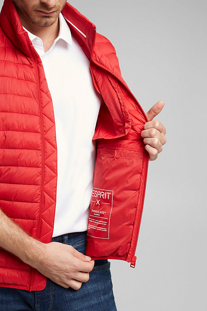 Quilted bodywarmer made of 3M™ Thinsulate™, RED, detail image number 5