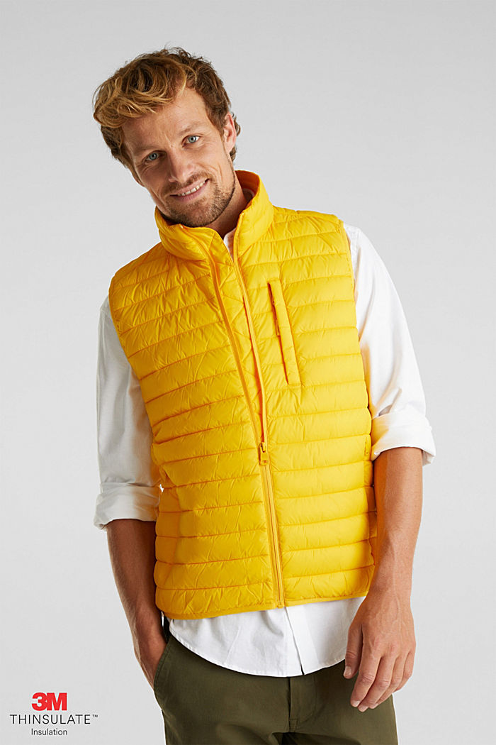 Quilted bodywarmer made of 3M™ Thinsulate™, YELLOW, detail image number 0