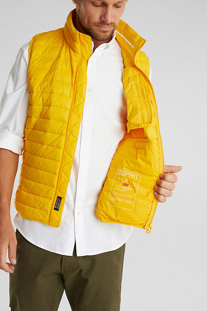 Quilted bodywarmer made of 3M™ Thinsulate™, YELLOW, detail image number 2