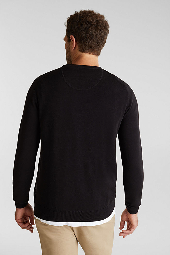 Jumper made of 100% organic pima cotton, BLACK, detail image number 3