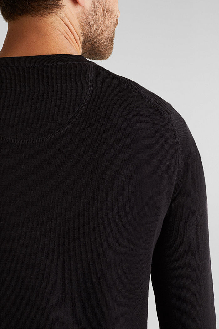 Jumper made of 100% organic pima cotton, BLACK, detail image number 2