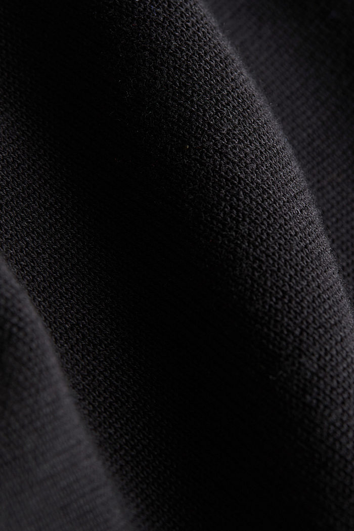 Jumper made of 100% organic pima cotton, BLACK, detail image number 4