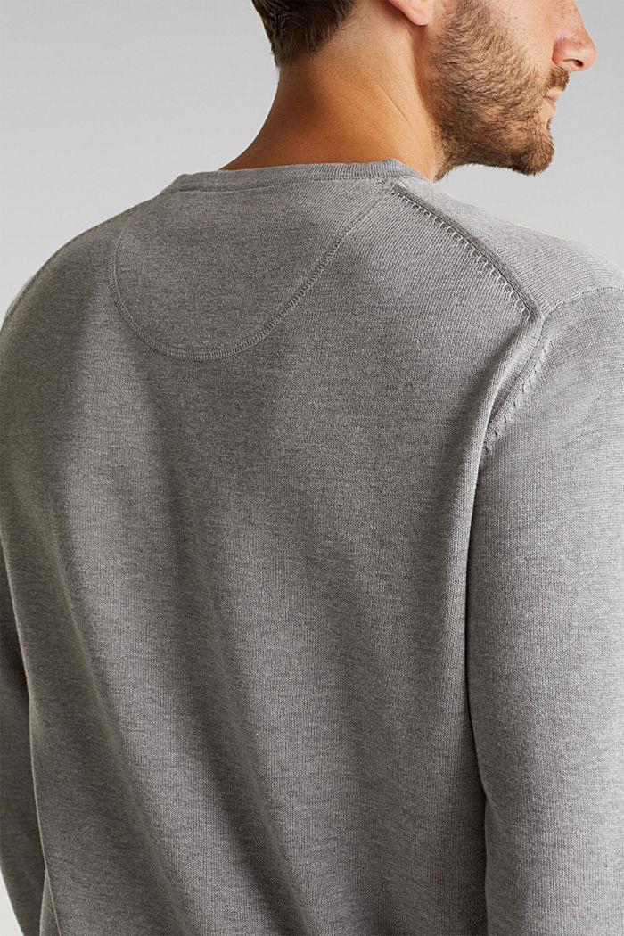 Trui van 100% organic Pima cotton, MEDIUM GREY, detail image number 4