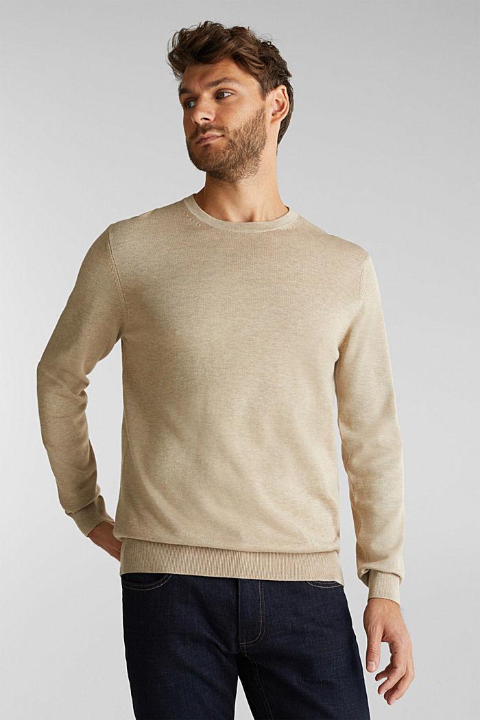 Pullover aus 100% Pima Organic Cotton, BEIGE, detail image number 0