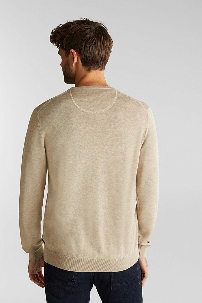 Pullover aus 100% Pima Organic Cotton, BEIGE, detail image number 3
