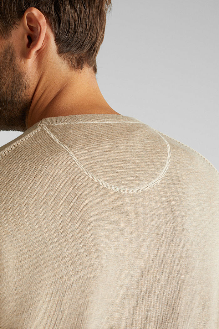 Jumper made of 100% organic pima cotton, BEIGE, detail image number 2