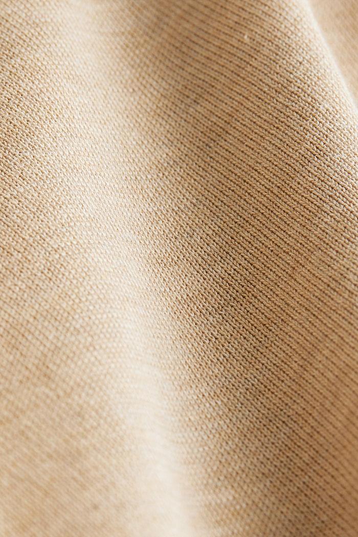 Pullover aus 100% Pima Organic Cotton, BEIGE, detail image number 4