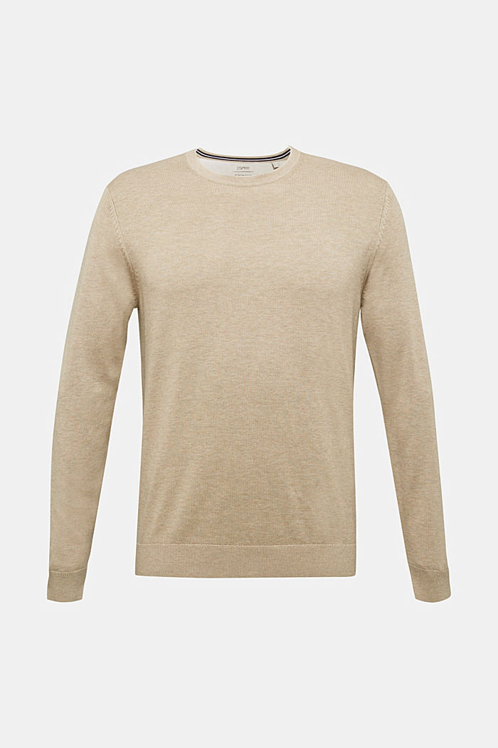 Jumper made of 100% organic pima cotton, BEIGE, overview