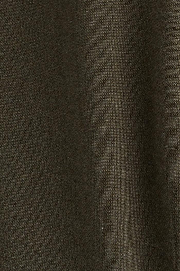 Trui van 100% organic Pima cotton, DARK KHAKI, detail image number 4