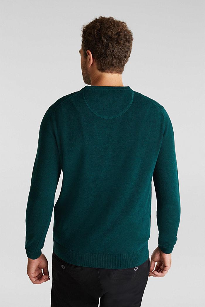 Jumper made of 100% organic pima cotton, BOTTLE GREEN, detail image number 3
