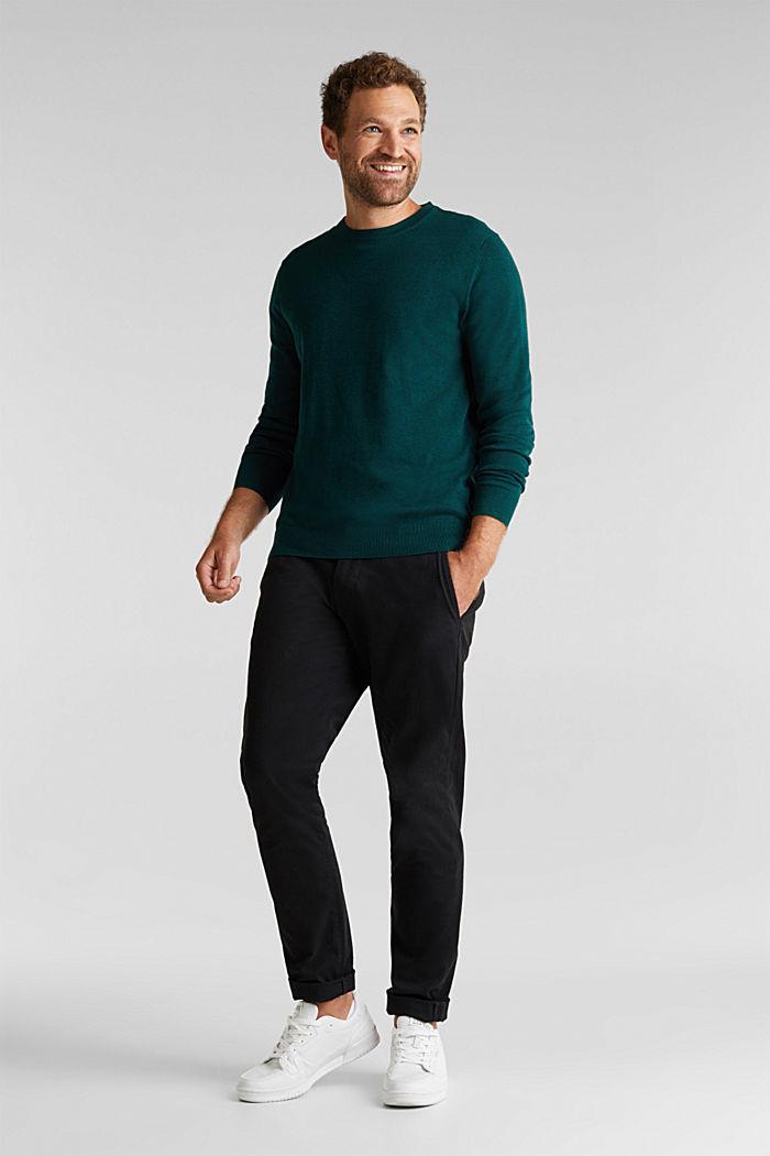 Pullover aus 100% Pima Organic Cotton, BOTTLE GREEN, detail image number 1