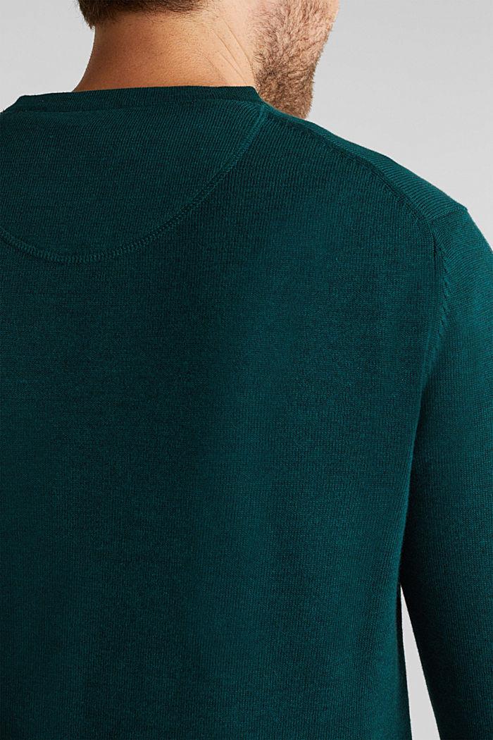 Jumper made of 100% organic pima cotton, BOTTLE GREEN, detail image number 2