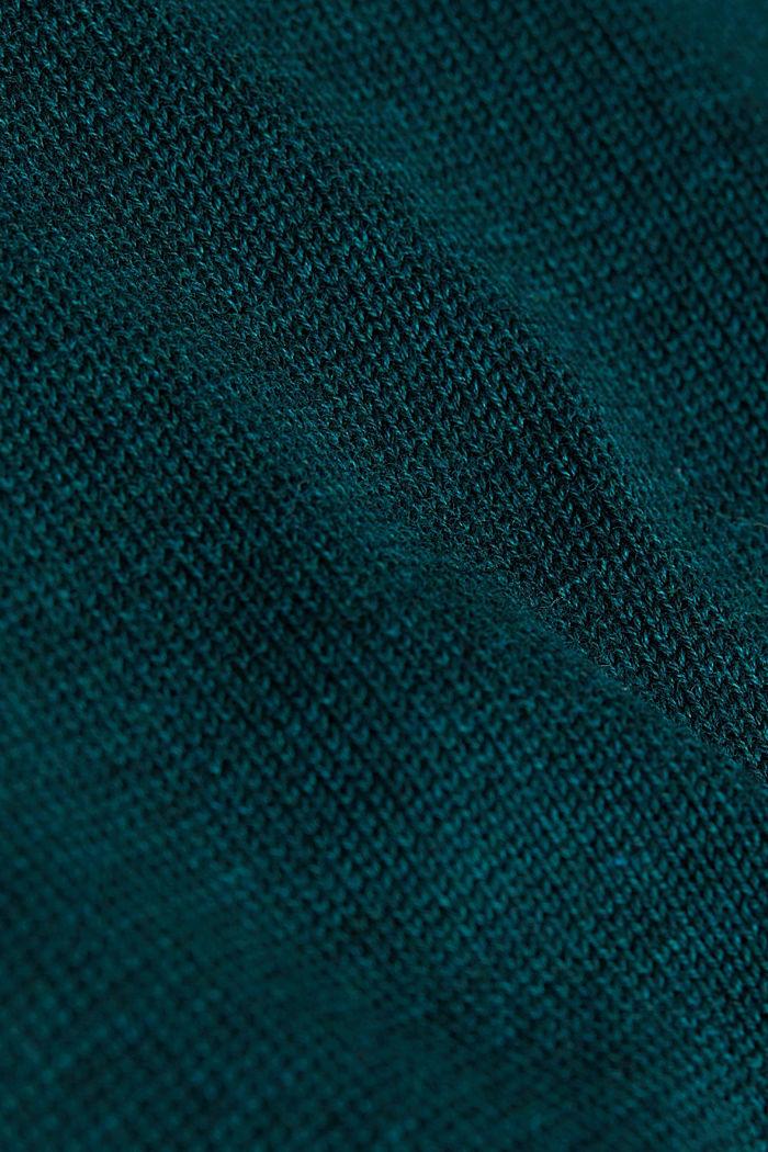 Jumper made of 100% organic pima cotton, BOTTLE GREEN, detail image number 4