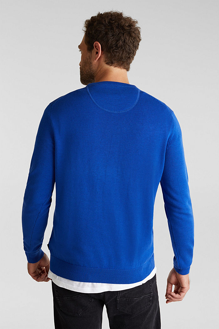 Jumper made of 100% organic pima cotton, BRIGHT BLUE, detail image number 3