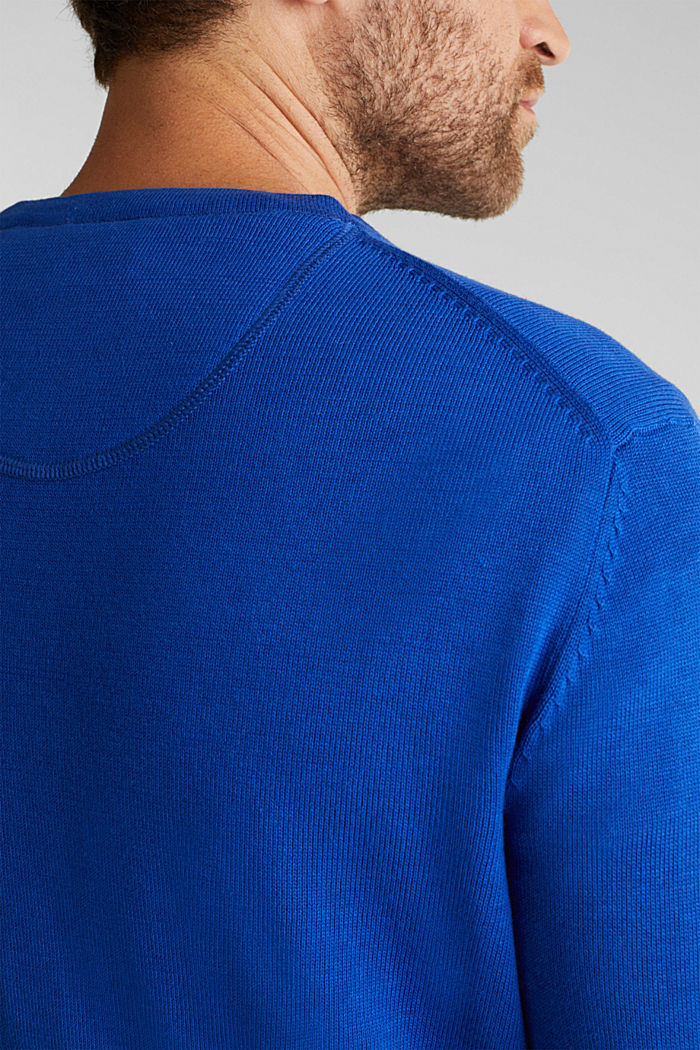 Jumper made of 100% organic pima cotton, BRIGHT BLUE, detail image number 2