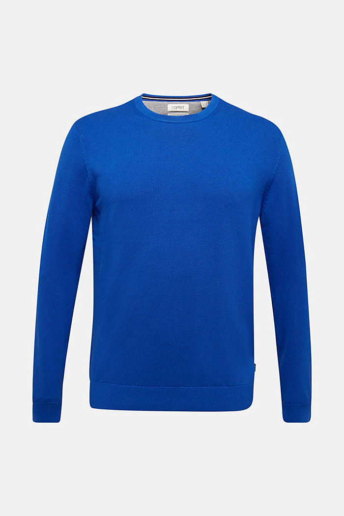 Jumper made of 100% organic pima cotton, BRIGHT BLUE, overview