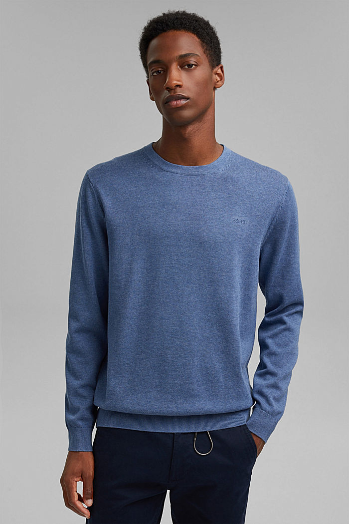 Jumper made of 100% organic pima cotton, BLUE, detail image number 0