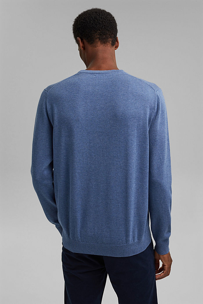 Jumper made of 100% organic pima cotton, BLUE, detail image number 3