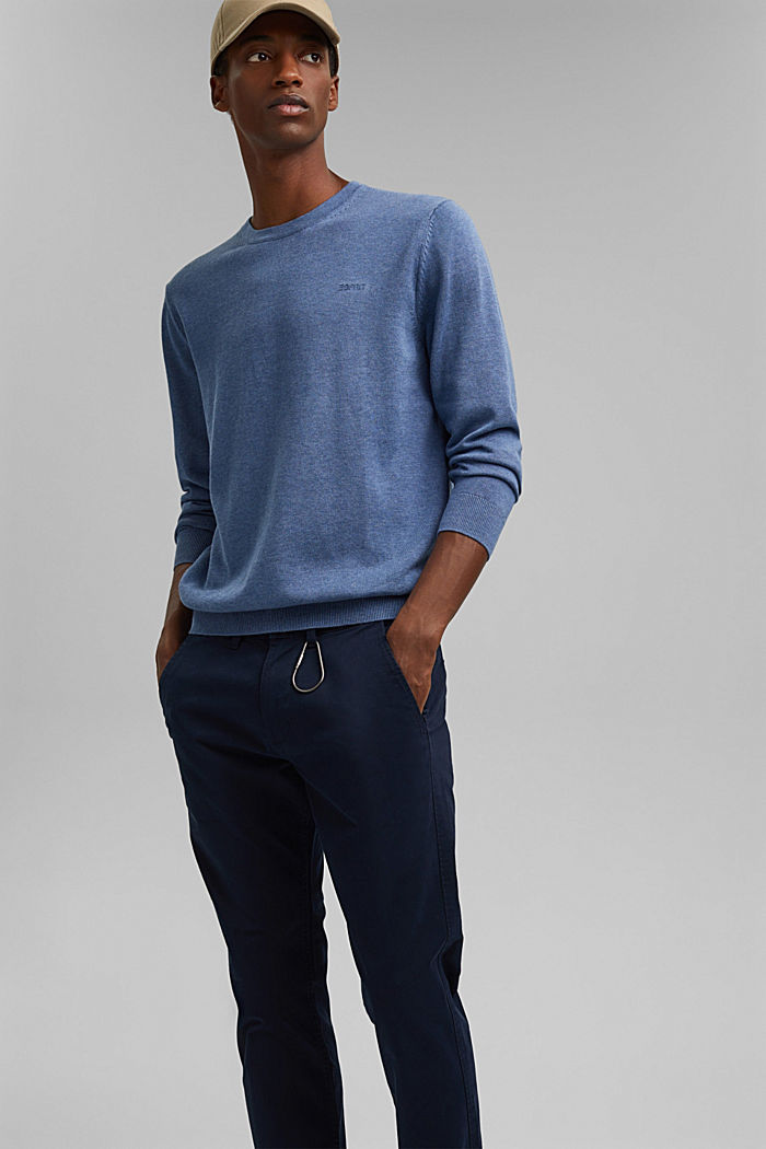 Jumper made of 100% organic pima cotton, BLUE, detail image number 6