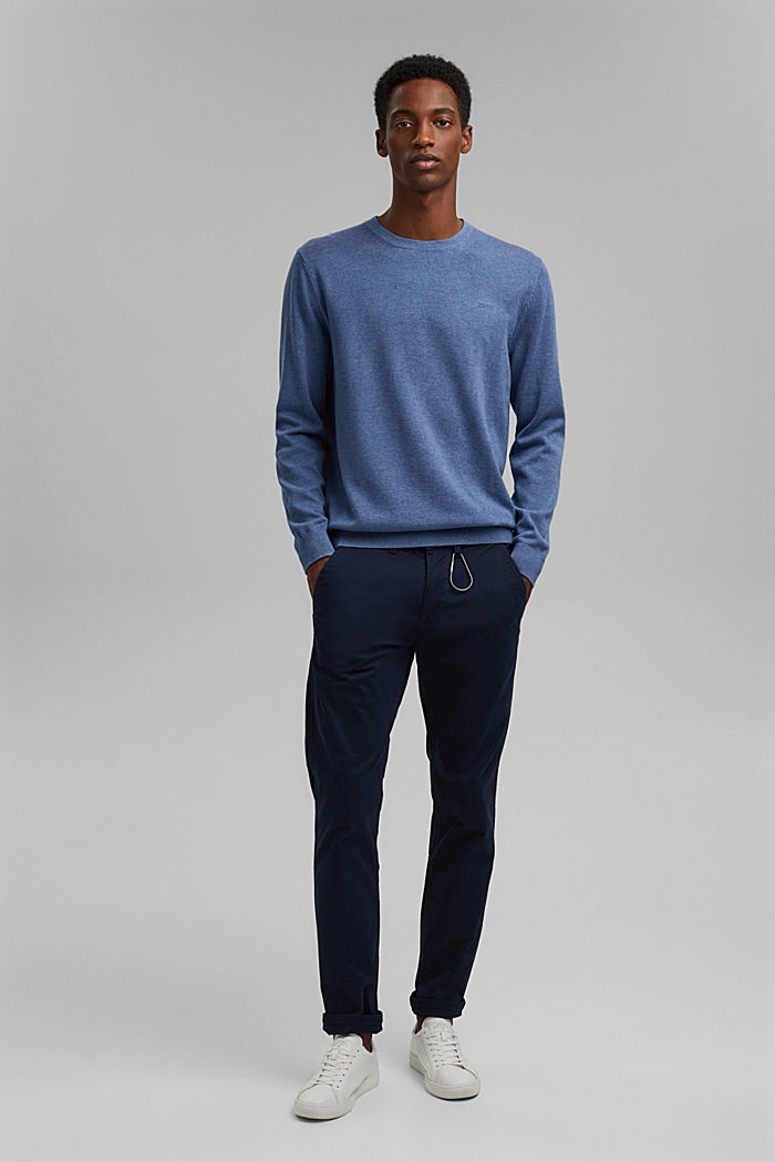 Jumper made of 100% organic pima cotton, BLUE, detail image number 1