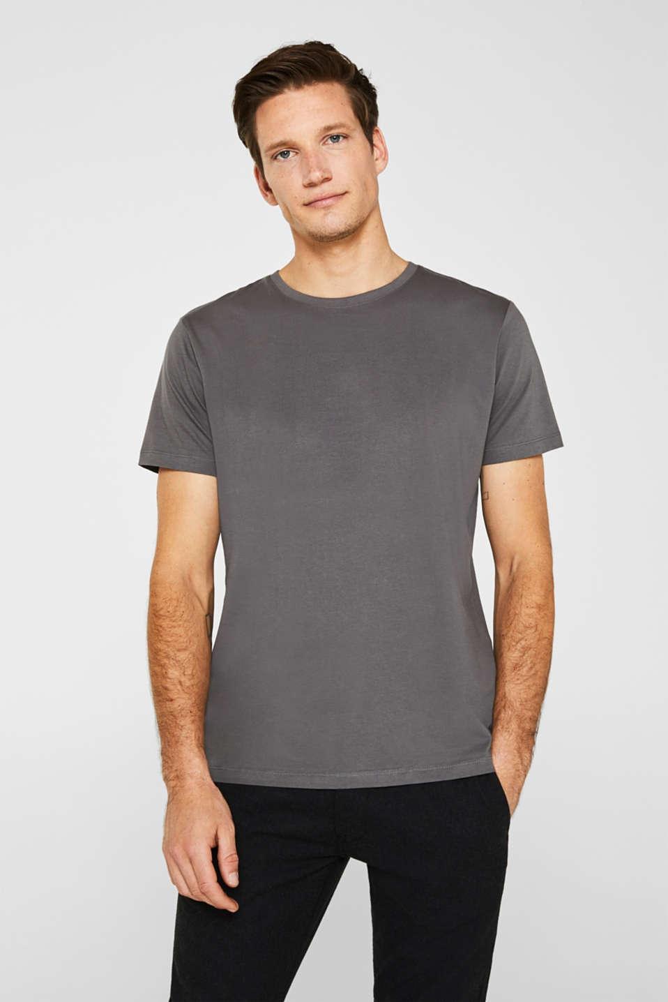 Jersey T-shirt in 100% cotton, DARK GREY, detail image number 0
