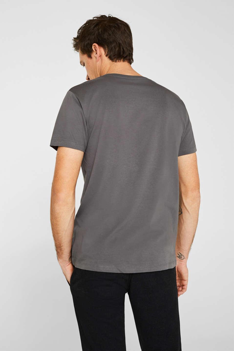 Jersey T-shirt in 100% cotton, DARK GREY, detail image number 3