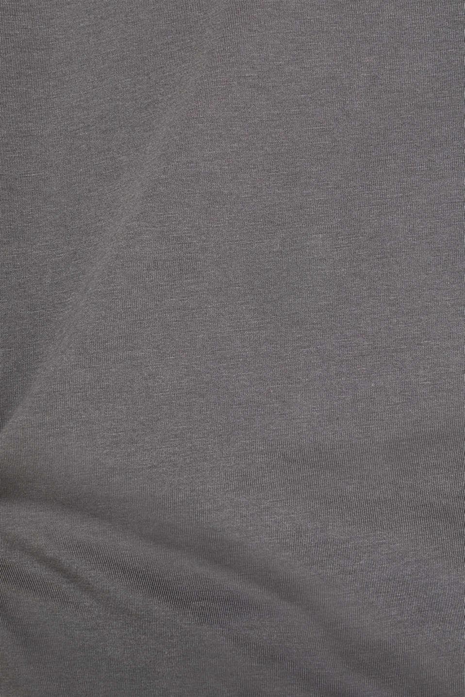 Jersey T-shirt in 100% cotton, DARK GREY, detail image number 4