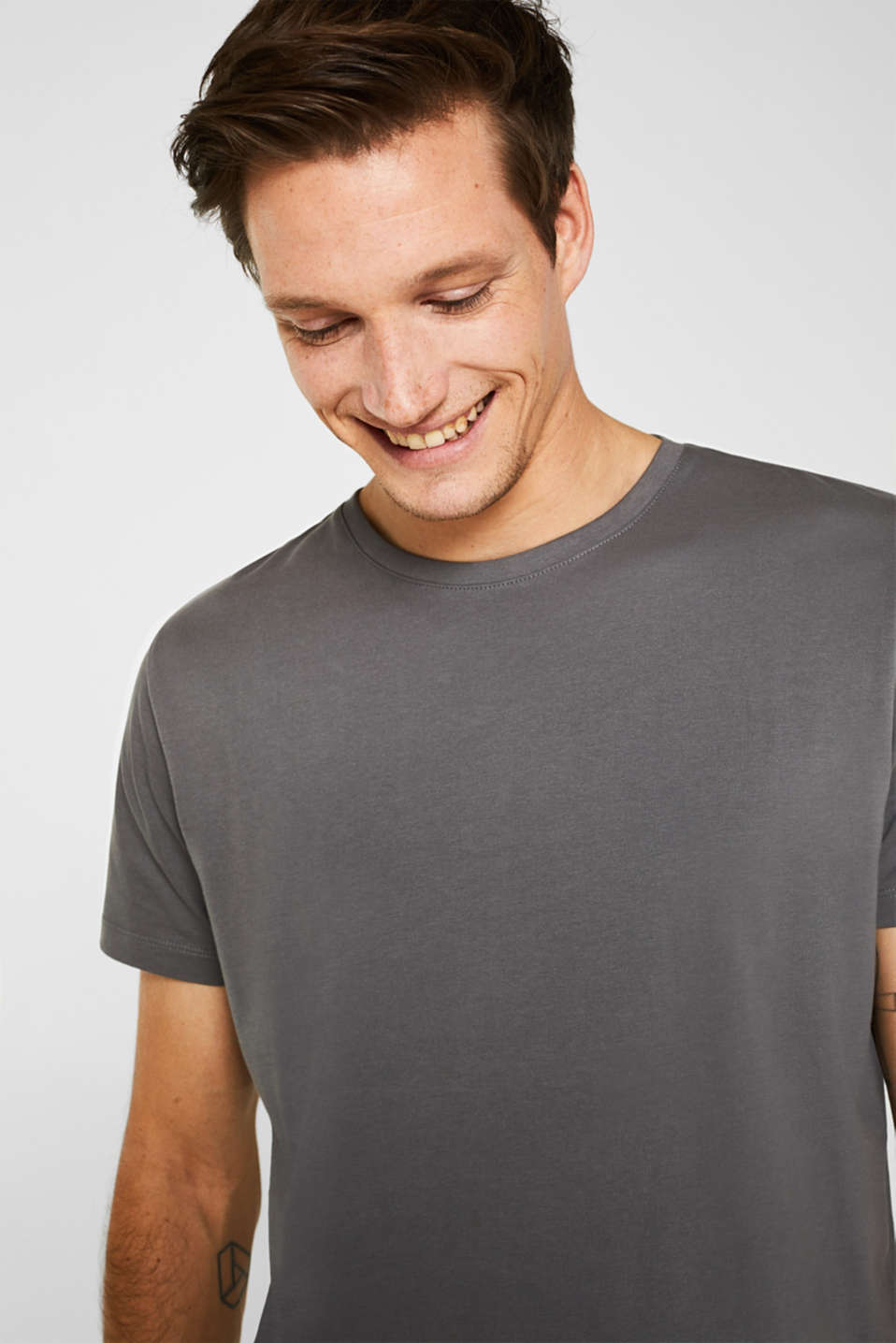 Jersey T-shirt in 100% cotton, DARK GREY, detail image number 6