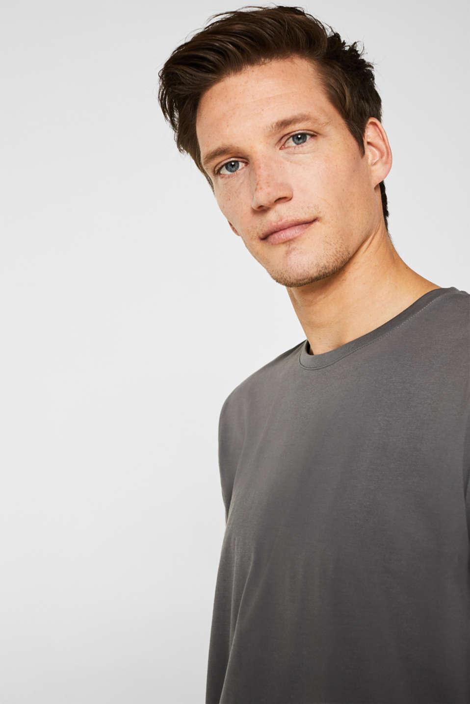 Jersey T-shirt in 100% cotton, DARK GREY, detail image number 5