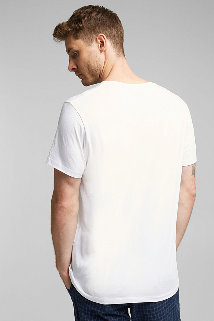 T-shirt in jersey di 100% cotone, WHITE, detail image number 3