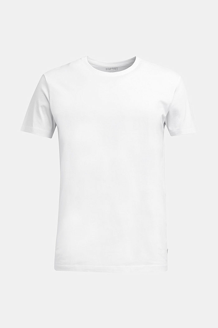 T-shirt in jersey di 100% cotone, WHITE, overview