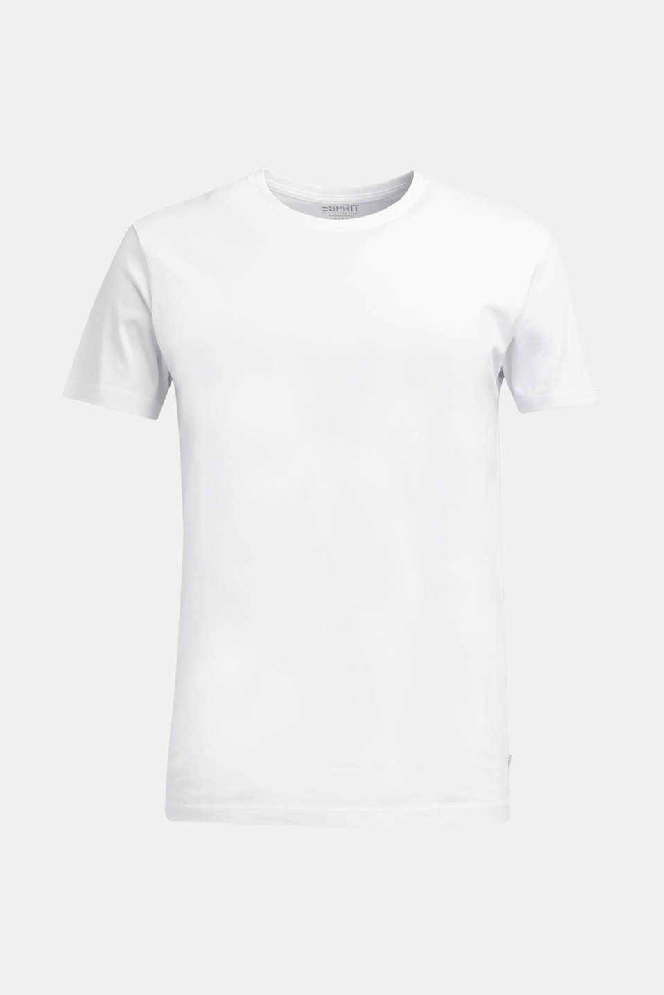 Jersey T-shirt in a basic look, 100% cotton, WHITE, detail image number 6
