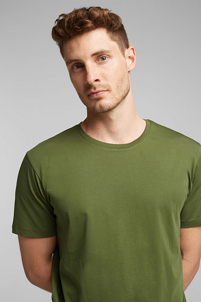 Jersey T-shirt in 100% cotton, KHAKI GREEN, detail image number 5