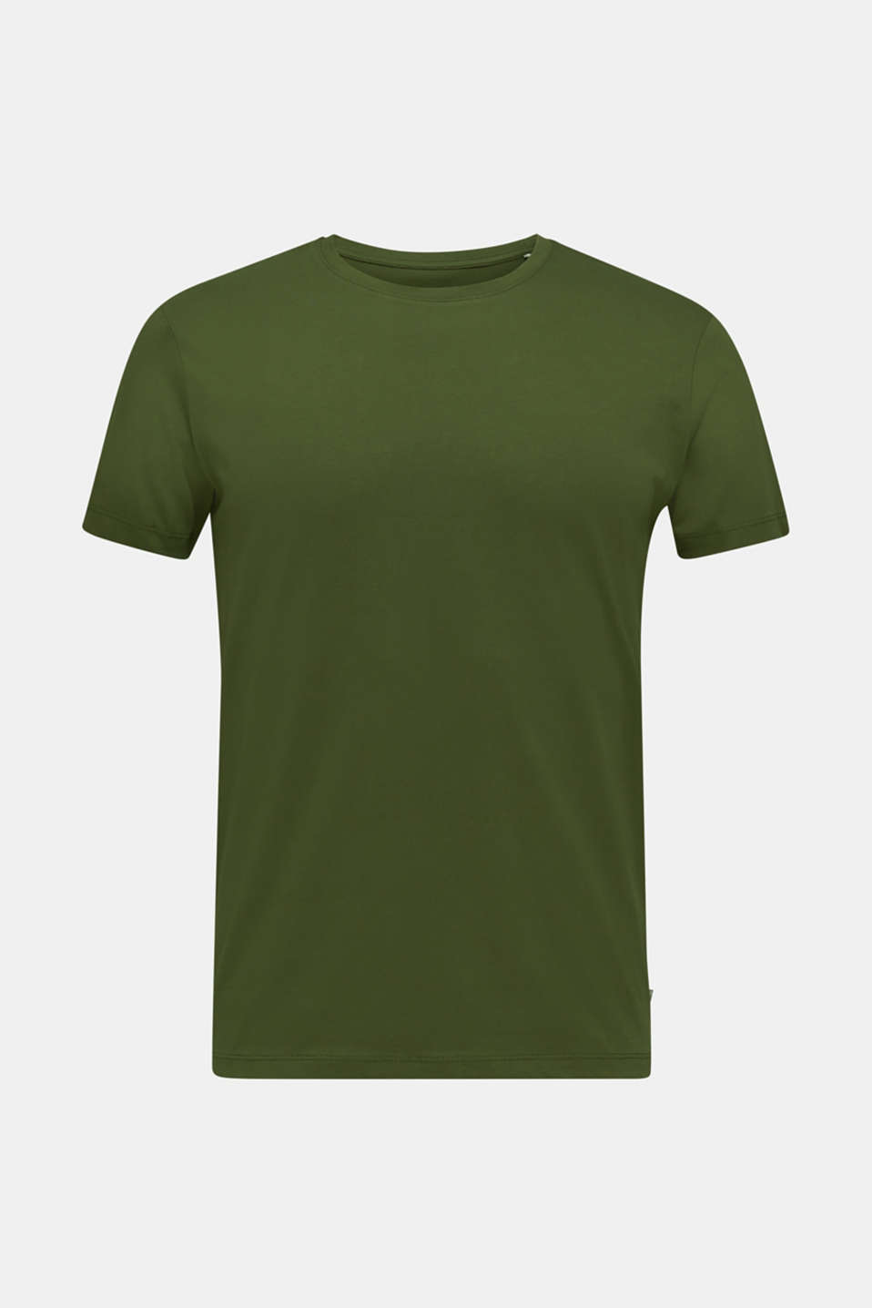 Jersey T-shirt in 100% cotton, KHAKI GREEN, detail image number 6