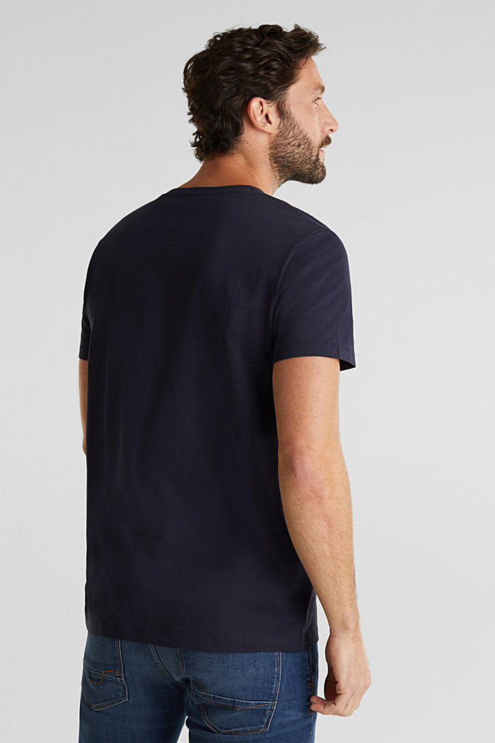 Jersey T-shirt in 100% cotton, NAVY, detail image number 2