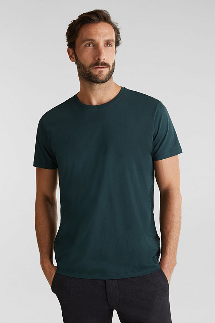 Jersey T-shirt in 100% cotton, TEAL BLUE, detail image number 4